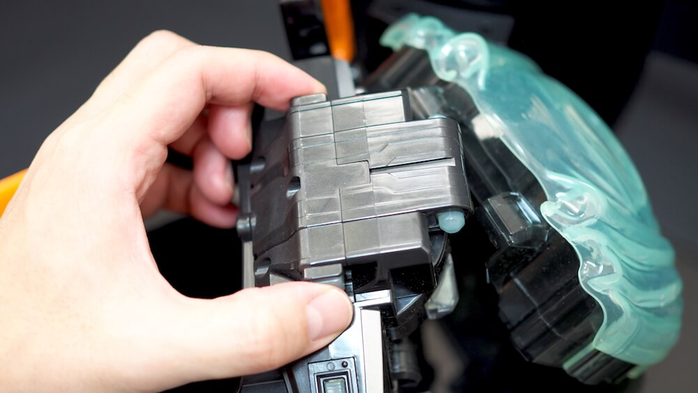 DXゴーストドライバー カバー取り付け