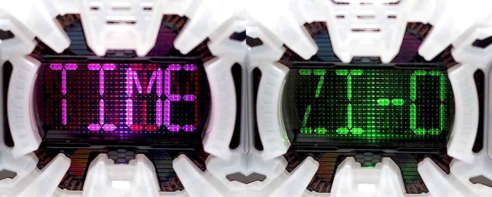 DXジクウドライバー セグメント液晶